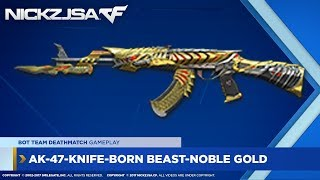 Ak-47-knife-born Beast-noble Gold Crossfire China 2.0