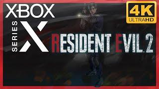 [4K] Resident Evil 2 (2019 Remake) / Xbox Series X Gameplay