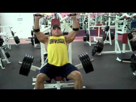 Brad Rowe Plate loaded shoulder press