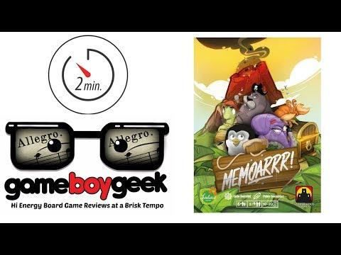 The Game Boy Geek's Allegro (2-min Review) of Memoarrr!