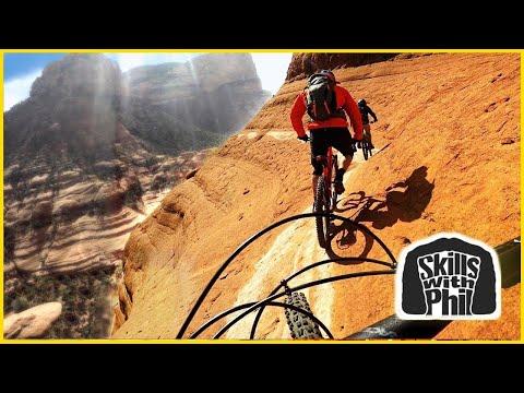 Riding on the edge of a cliff | Sedona Whiteline Trail | Mountain biking