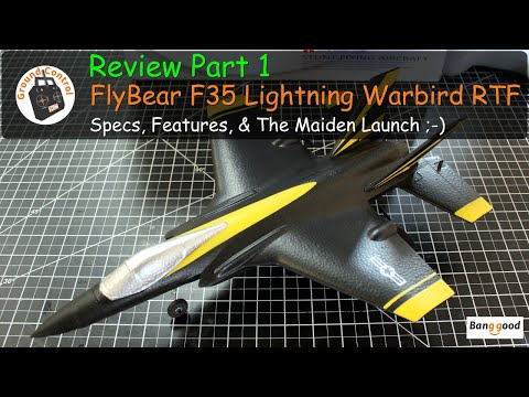 FlyBear FX935 F-35 Lightning Jet 4CH 6-Axis Gyro RTF from Bangood - Review Part 1 The Maiden Launch ;-)