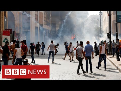 Mass protests in Beirut and demands for change after devastating explosion - BBC News