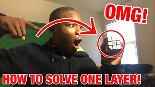 HOW TO SOLVE ONE LAYER OF THE RUBIX CUBE!