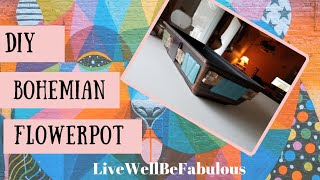 Bohemian Style DIY Flowerpot   Spanish Tile Decoration Ideas