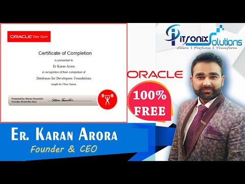 7 Free Oracle Certifications - Oracle Databases for Developers Free ...