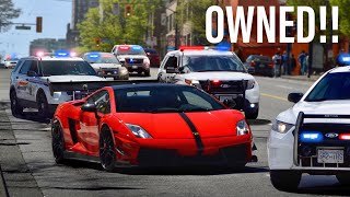 COPS MESSING WITH THE WRONG LAMBORGHINI DRIVER!!
