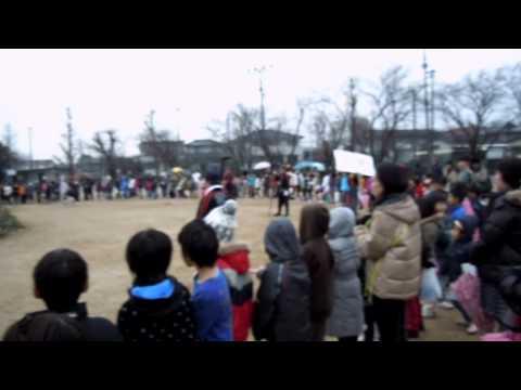 2011-01-09 どんど焼き in熊本市立桜木小学校 その2