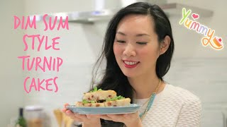 How to Make Chinese Turnip Cakes (蘿蔔糕) | Dim Sum Style