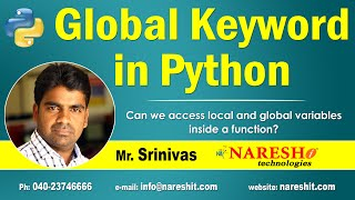 Can we access local and global variables inside a function?   Global Keyword in Python   Mr.Srinivas