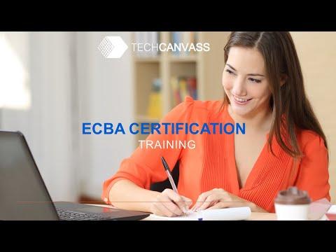 Business Analyst Certification Training (ECBA) - Session I ...