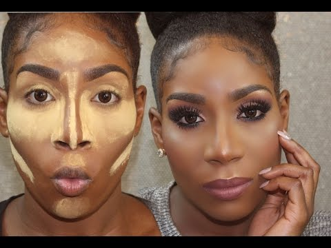 FLAWLESS Drugstore Foundation Routine for DARK SKIN/WOC + Highlight & Contour 2017