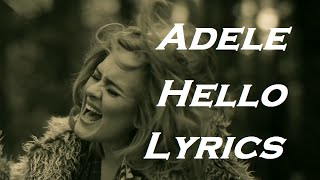 Adele - Hello | Lyrics | HD