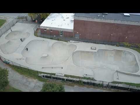 Newburyport Skatepark from above