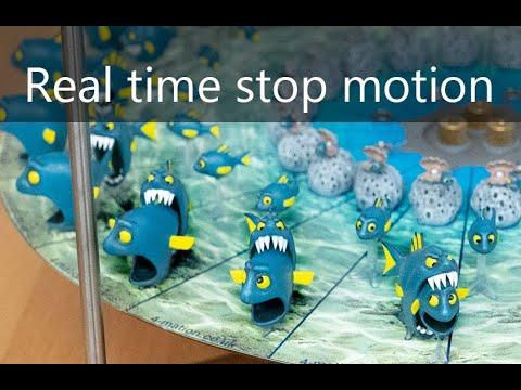 3D-зоотроп в действии