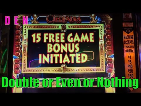 ★SLOT SERIES ! D☆E☆N (35)★Double or Even or Nothing★Golden Egypt /Cleopatra Slot machine /栗スロ