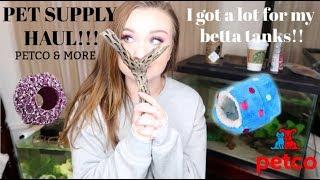 PET SUPPLY HAUL!! | NEW STUFF FOR MY BETTA FISH TANKS FROM PETCO & MORE! | ItsAnnaLouise