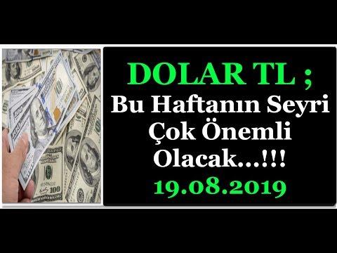 DOLAR TL  İÇİN BU HAFTA ÇOK ÖNEMLİ ...!!!