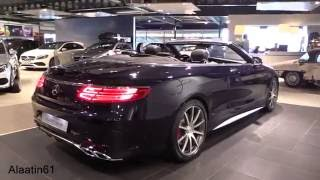 2017 Mercedes-Benz S63 AMG Convertible Start Up, Exhaust Sound, In Depth Review Interior Exterior