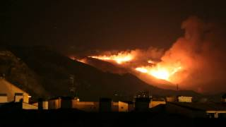 Timelapse Incendi Serra Mariola 2012