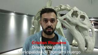 Cristian Riquelme sobre Muestra Paleontológica