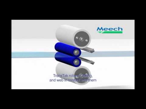 Video of TakClean, contact web cleaning system using sticky tacky rollers