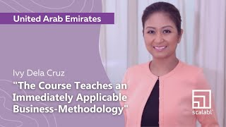 Ivy Dela Cruz: Scalabl Teaches an Immediately Applicable Business-Methodology | Dubai, UAE