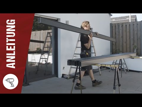 STEDA - Montageanleitung für Terrassenüberdachung aus Aluminium