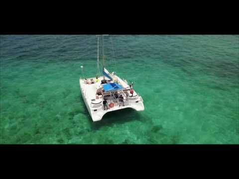 Catamaran Trip to Isla Mujeres Mexico 4K DJI Mavic HD