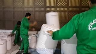 How Loading Water Zam Zam In Masjid Nabawi