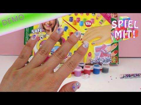 Fingernägel Design selber machen einfach - SES Creative Nageldesign Set test