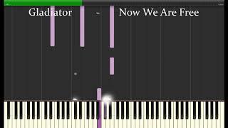 Gladiator Theme  -- Now We are Free --  Piano Tutorial