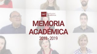 Memoria Académica IMF Business School 2017/ 2018