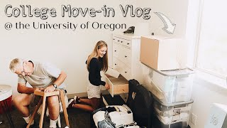 UO COLLEGE MOVE IN VLOG PT 1 | MOVING INTO MY 1ST APARTMENT