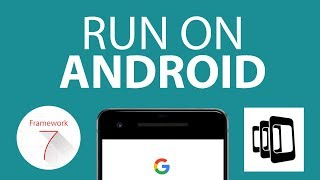 Run a Framework7 app on Android with PhoneGap/Cordova