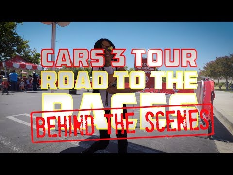 I took my son to the Cars 3 Road to the Races Tour - My RØDE Reel BTS