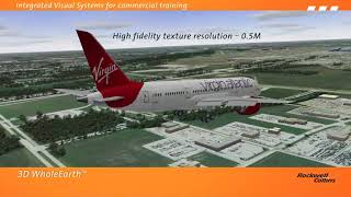 Rockwell Collins integrated visual systems for commercial training