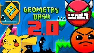 (LOQUENDO)Geometry Dash 2.0! Geometric dominator COMPLETADO 100% 2.0
