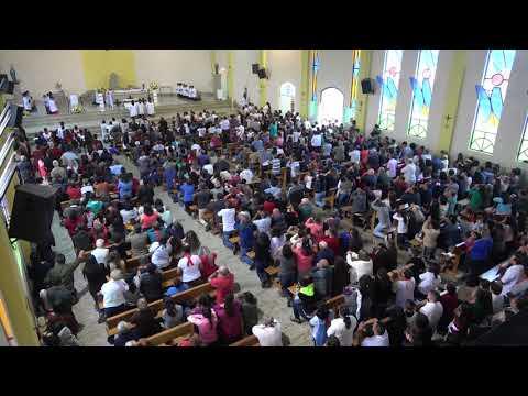 Igreja Lotada para a Ultima Missa do Padre Valdir em Juquitiba