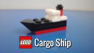 How To Build a Mini LEGO Cargo Ship