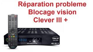 réparation probleme blocage vision clever 3+