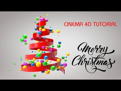 Christmas Tree Animation in Cinema 4D Tutorial | C4D Tutorial