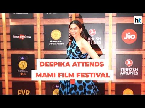 Watch: Deepika Padukone on red carpet of Jio MAMI Film Festival