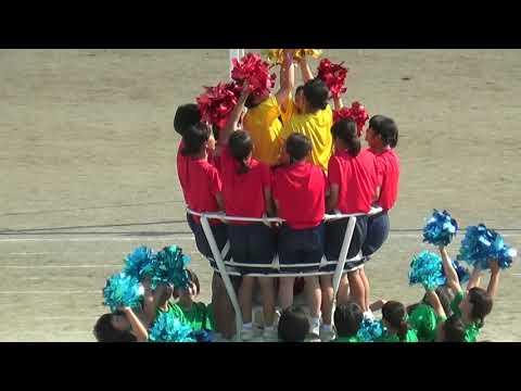 2017年田沼西中学校 マスゲーム メイン 塔