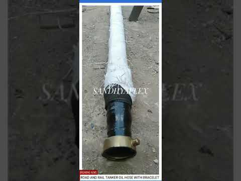80NB Tanker Oil Hose with Fitting One Side Brass Nut Female and Other End MS Flange