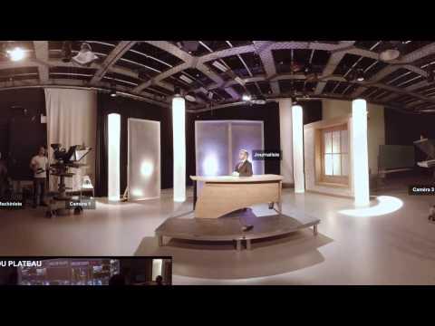 Réalité virtuelle - Studio de télévision