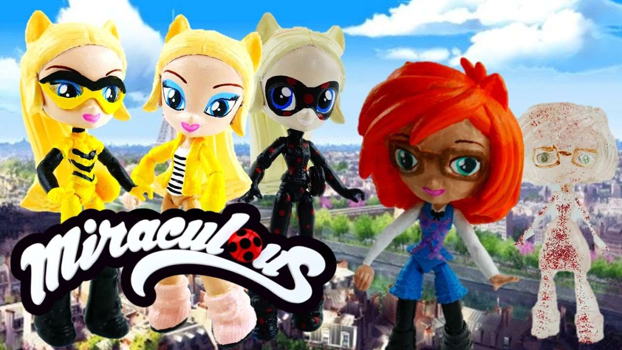 DIY Compilation - Miraculous Ladybug Chloe Queen Bee Antibug Sabrina Vanisher Toys MLP Minis