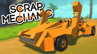 Scrap Mechanic CREATIONS - LAMBORGHINI Sports Car with Vertical Doors! - Scrap Mechanic Gameplay