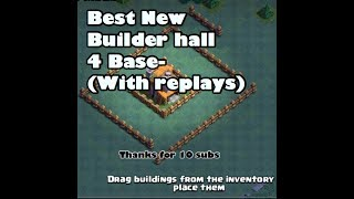 BEST BUIILDER HALL 4 BASE DESIGN (WITH REPLAYS)