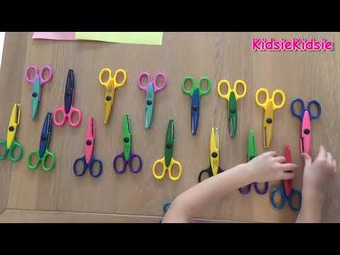 Knippen met Mega coole scharen , scharen met leuke vormen